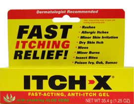 Itch-X Fast-Acting, Anti-Itch Gel with soothing aloe by B.F. Acher