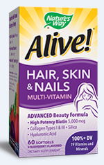 Alive!® Hair, Skin & Nails Multi-Vitamin by Nature's Way