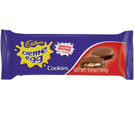 Cadbury Crème Egg Cookies: Chocolate covered cookies with a fondant filling by Burton's Biscuits