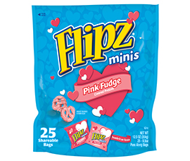 Limited Release Flipz® Pink Fudge Covered Pretzels by DeMet's Candy Company