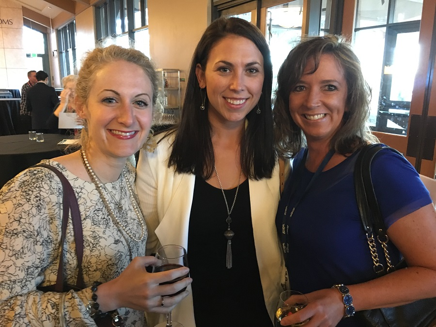 From left: Buyers Jeni Canaan and January Hetsel from The Paradies Shops, with Paige Carlson of Zagg, Inc.