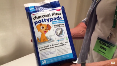 Petkin took first place with it's charcoal-filtered potty pads
