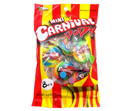 Mini Carnival Pops 8ct-4.2oz Peg Bag by Bee International