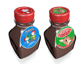 McSteven's Licensed Cocoa Milk Jars: Snoopy & Rudolph