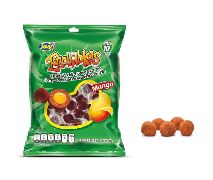Enchilokas Mango. Tamarind & Chili Covered Gummies by Mexi-Land Inc.