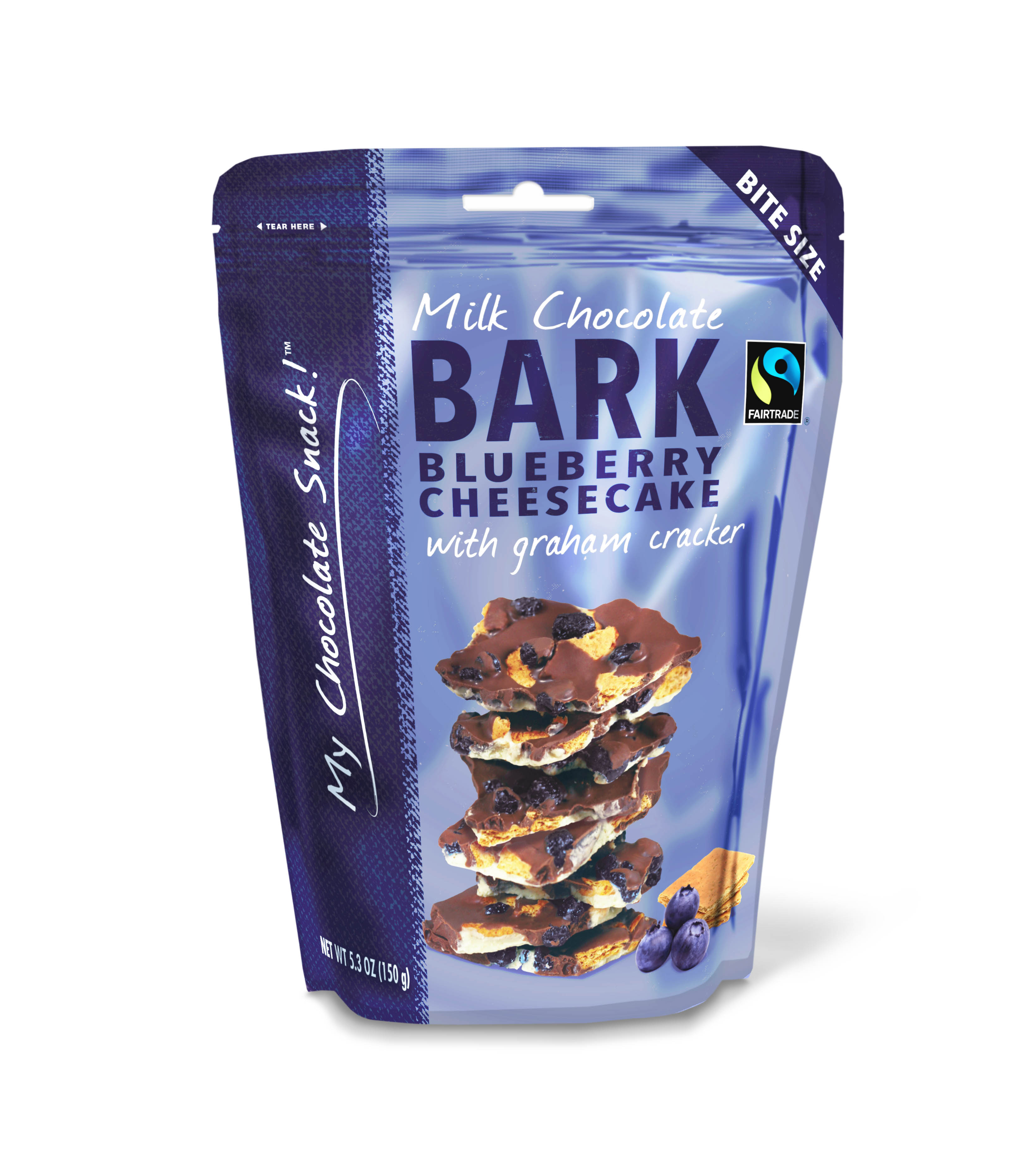 My Chocolate Snack™ Blueberry Cheesecake Bark by Morris National