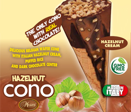 Cono-Italian chocolate cone in a Belgian wafer by Niche Gourmet