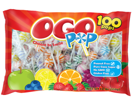 NEW! Original Gourmet OGO POPs. Assorted Fruit Flavors!
