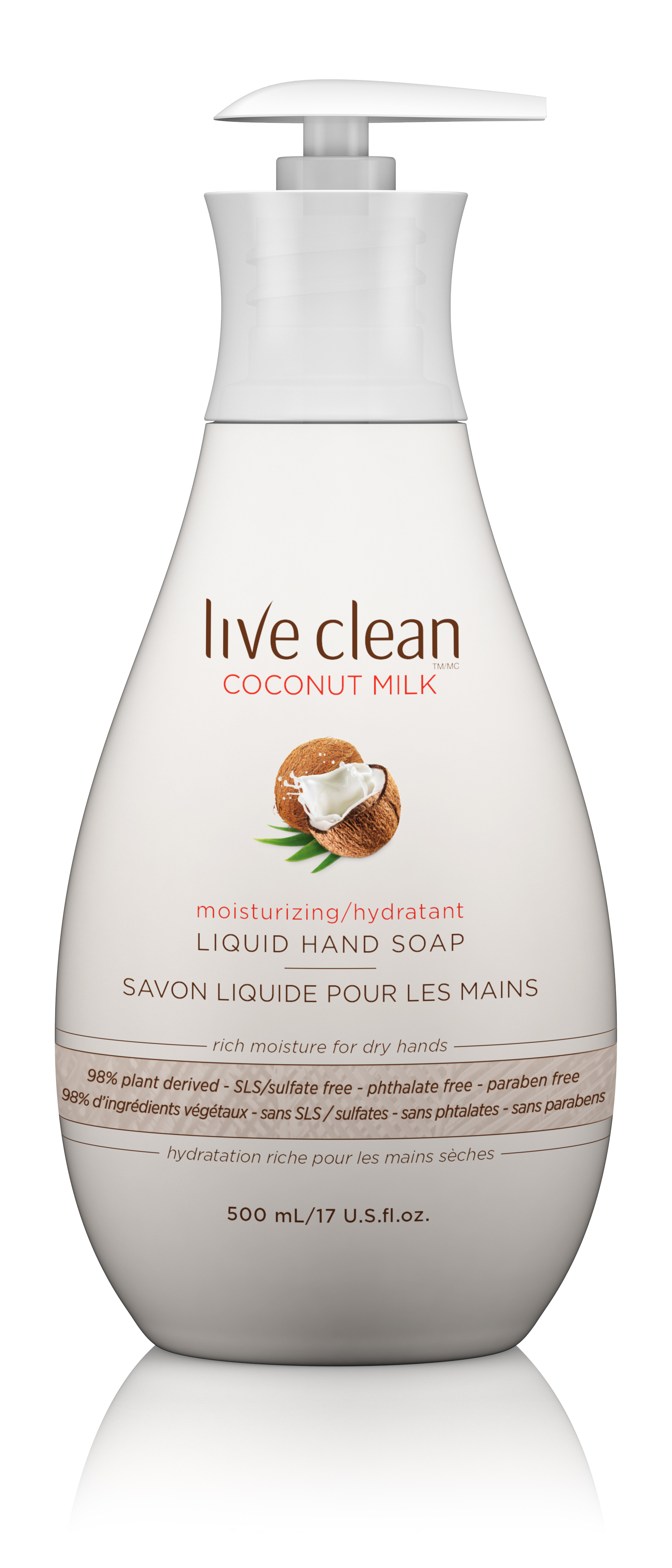 Live Clean Coconut Milk-Moisturizing Liquid Hand Soap by HAIN CELESTIAL