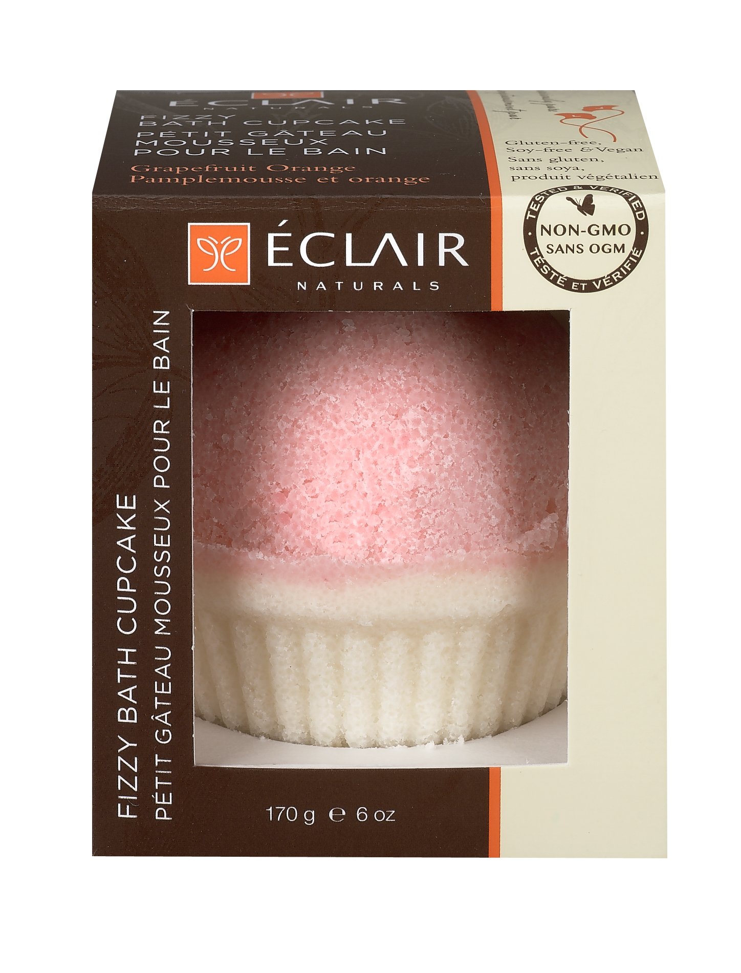 Eclair Naturals Fizzy Bath Cupcake - Grapefruit Orange
