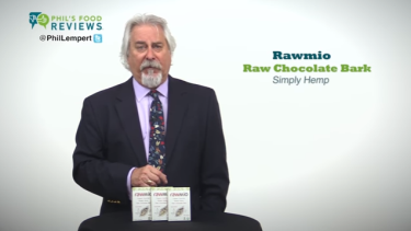 Phil's Pick of the Week is Rawmio Gourmet Raw Chocolate Bark Simply Hemp