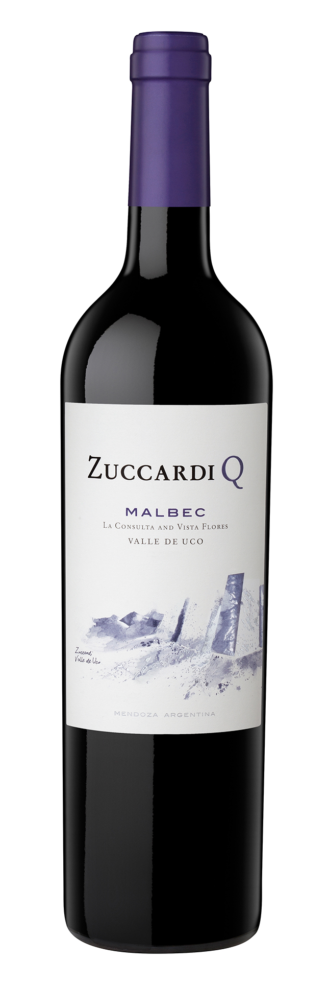 Zuccard Q Malbec - with intense red and black fruit aromas by Winesellers Ltd.