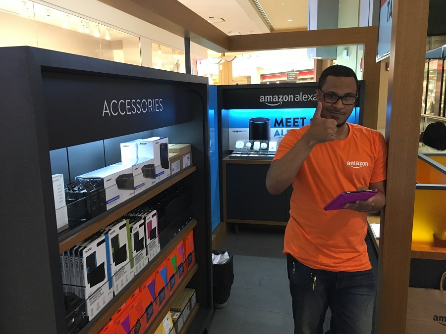 Every associate at the Amazon shop was knowledgeable and engaging -- and a power user of Amazon products