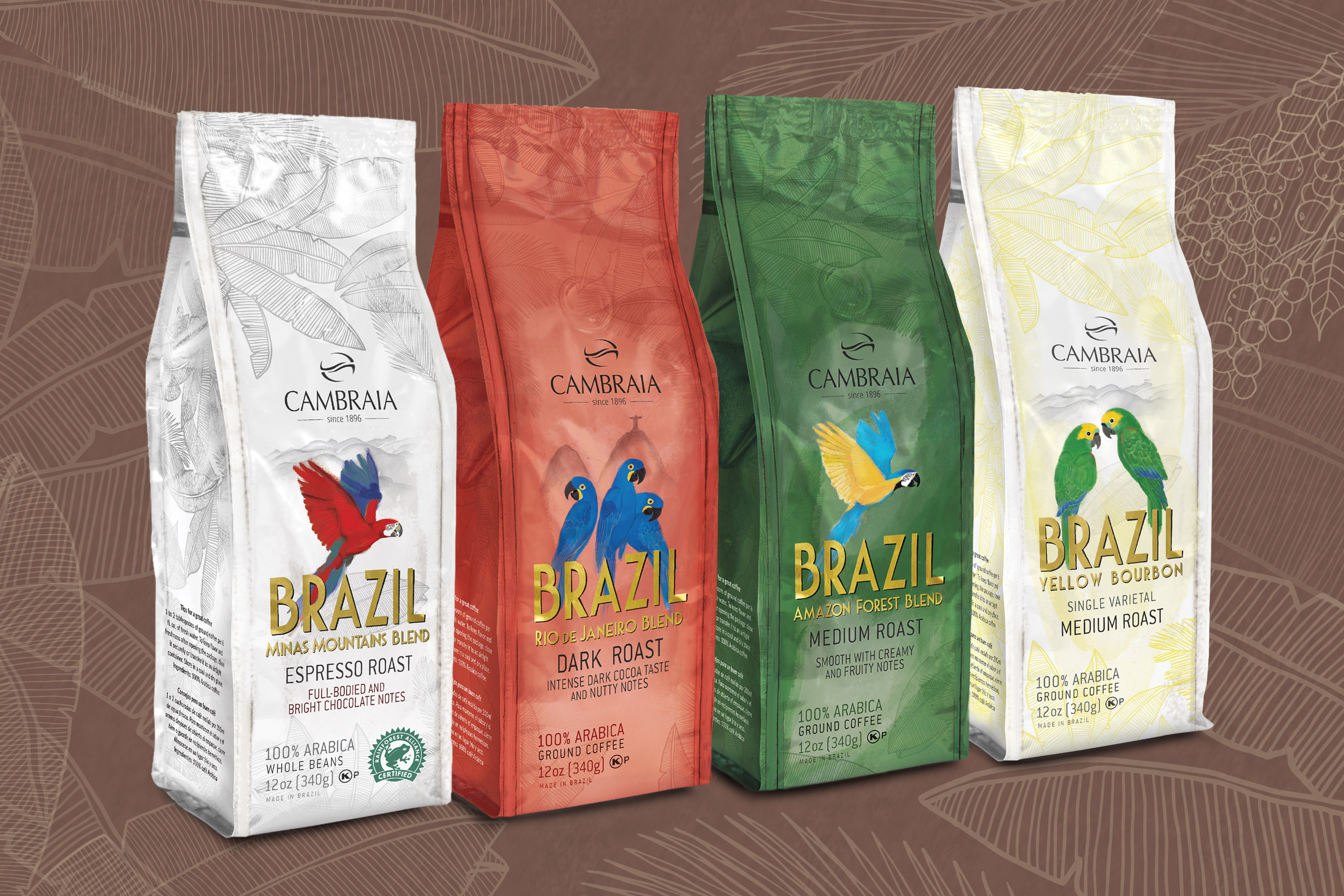 Cambraia's line of Brazilian Coffees