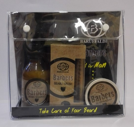 Baruffaldi Barbers Gift box for beard including oil/shampoo/brush and balsam