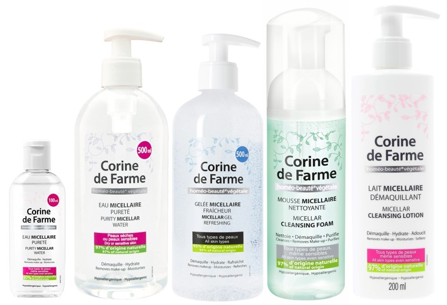 Corine de Farme, Natural Cosmetics for Sensitive Skin By Sarbec Cosmetics