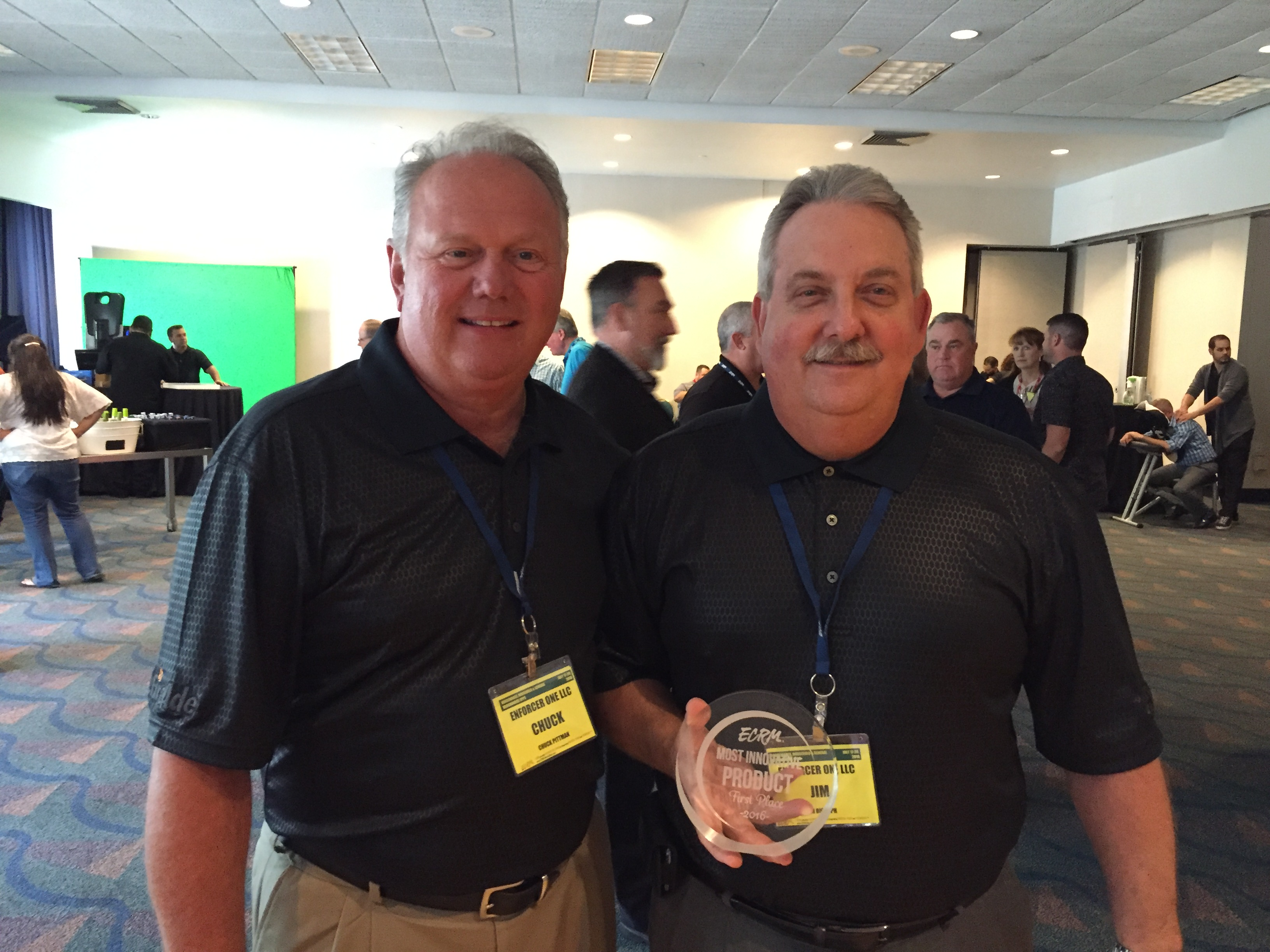 1st Place Winner Enforcer One. Pictured left to right; Chuck Pittman and Jim Rudolph.