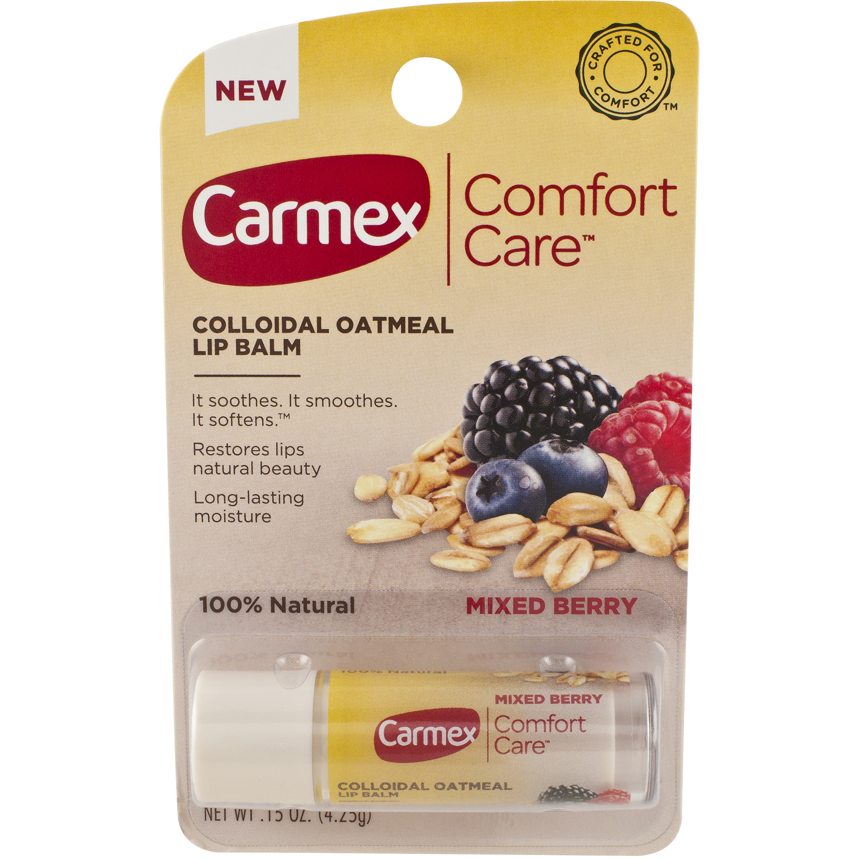 Carmex Comfort Care™ Lip Balm helps restore your lips natural beauty by Carma Laboratories, Inc.