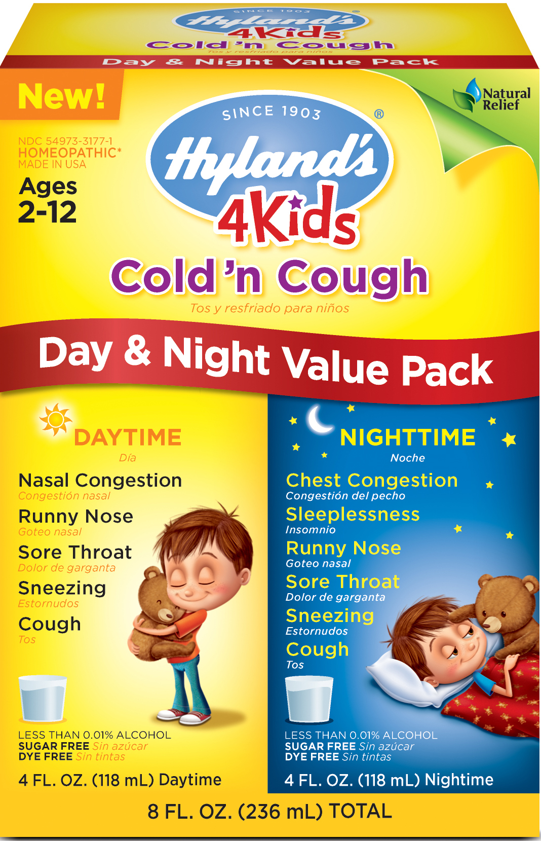 Hyland's 4 Kids Cold 'n Cough Day & Night Value Pack by Hyland's Inc