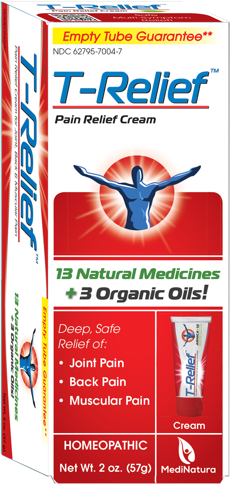 Pain Relief Ointment provides deep, safe relief of a broad spectrum of body pains by MediNatura T-Relief™