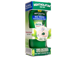 Mentholatum Roll On No Mess Vaporizing Rub by Mentholatum Co., Inc.