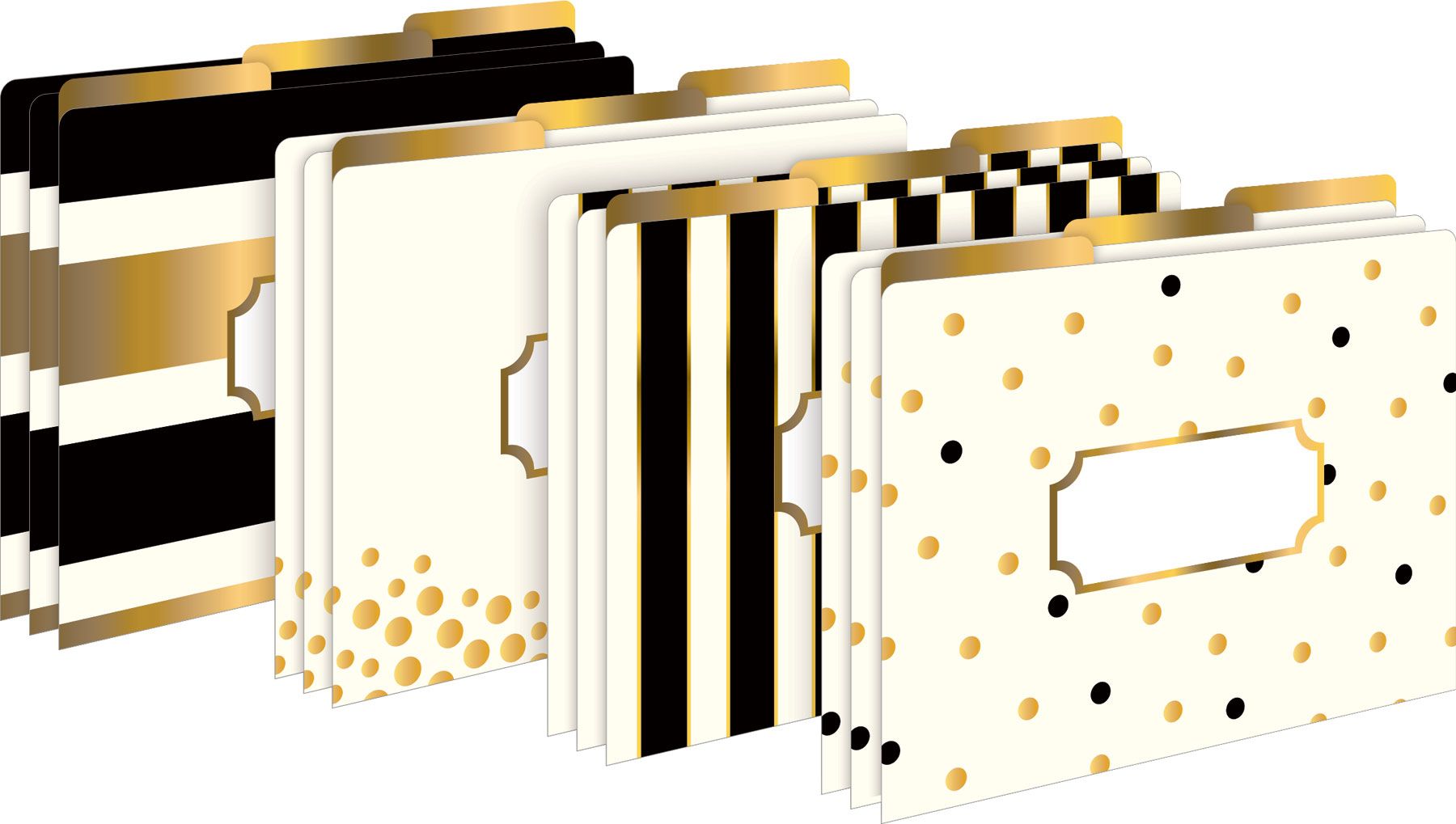24k Gold Letter-Sized File Folders - Set of 12 by Barker Creek Publishing, Inc.