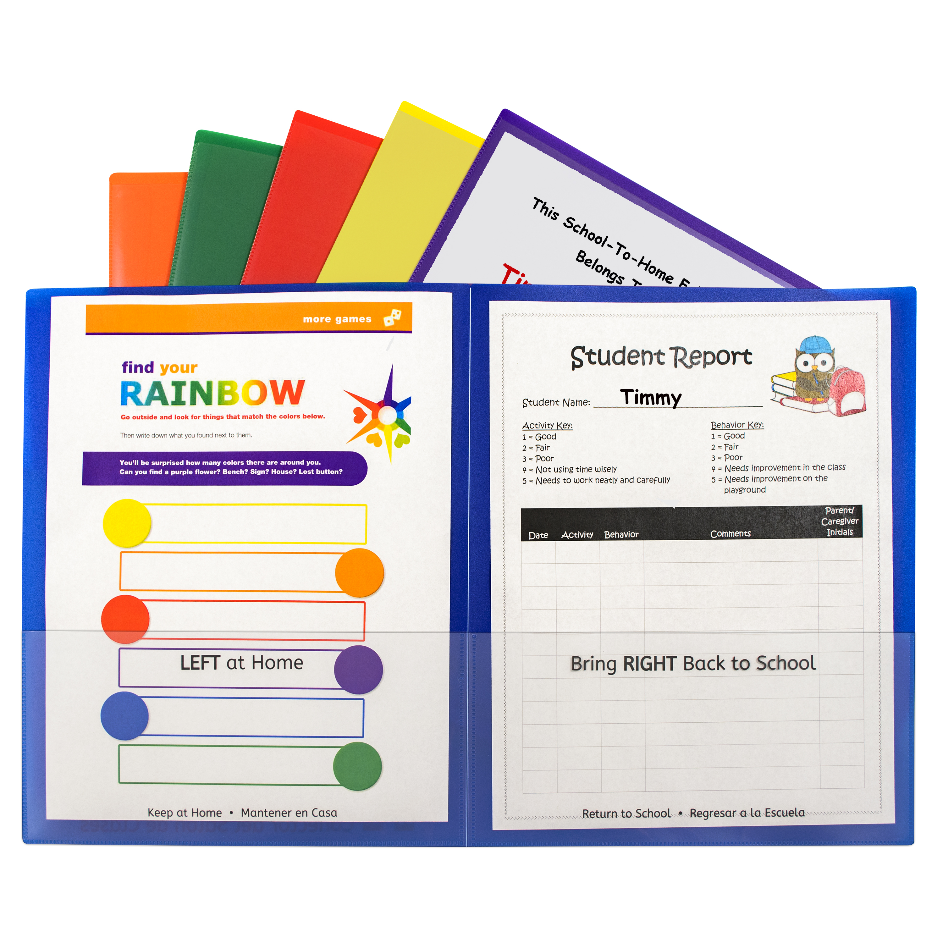 Classroom Connector School-to-Home Folders, Assorted, 1/EA, 32000 by C-Line Products, Inc.