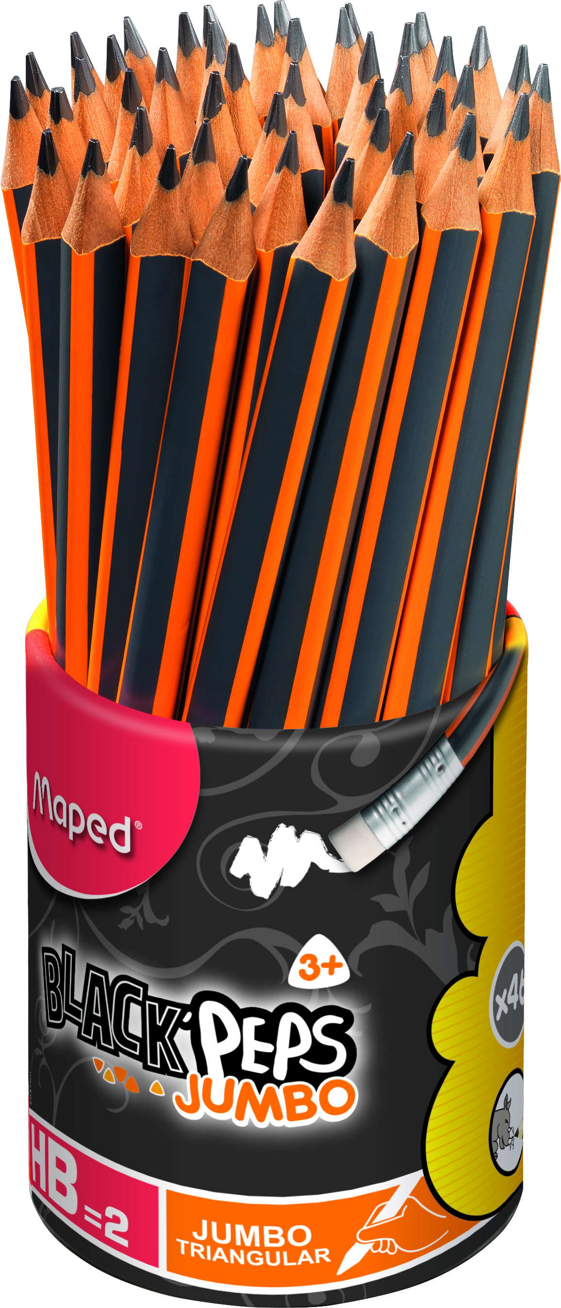 Maped Jumbo Pre-Sharpened Triangular #2 Pencils x46 by Maped Helix USA