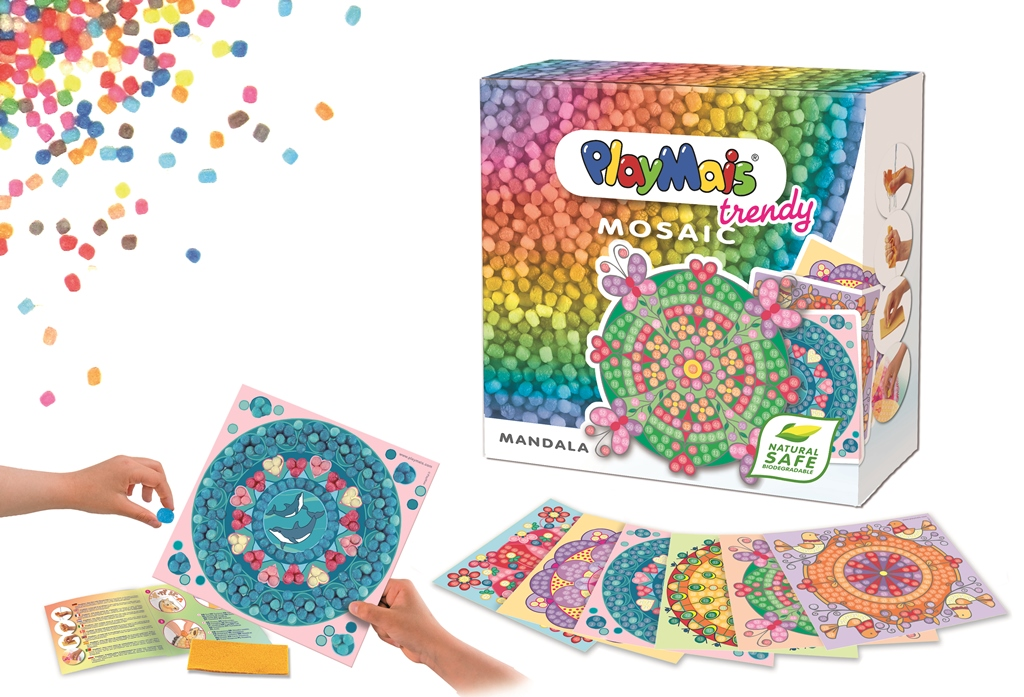 PlayMais Trendy Mosaic, the new PlayMais for artists from 8 to 12 years old by Playing Unlimited, Inc.