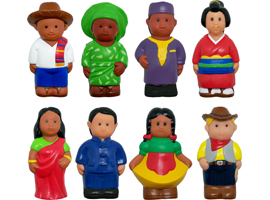 "Get Ready Kids 5"" multicultural figures for 18m+"