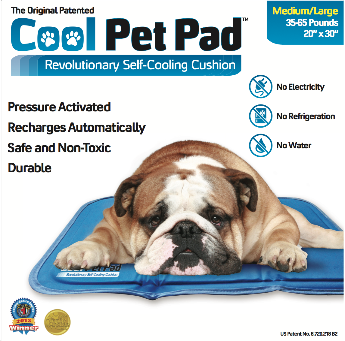 The Original Patented Cool Pet Pad. No Water. No Refrigeration. By RSM Group