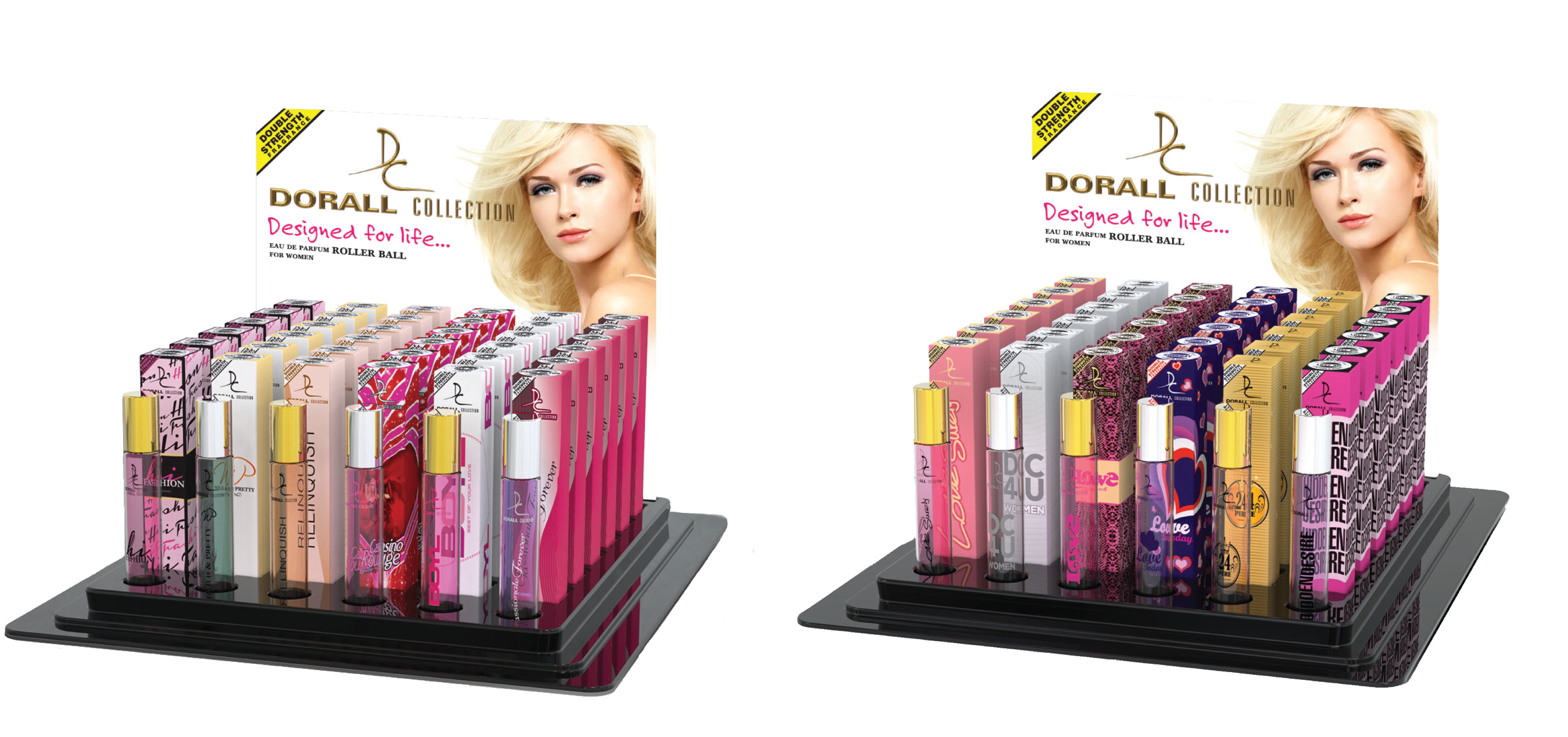Dorall Collection Rollerballs 6x6 Display Trays by Arion Perfume & Beauty Inc.