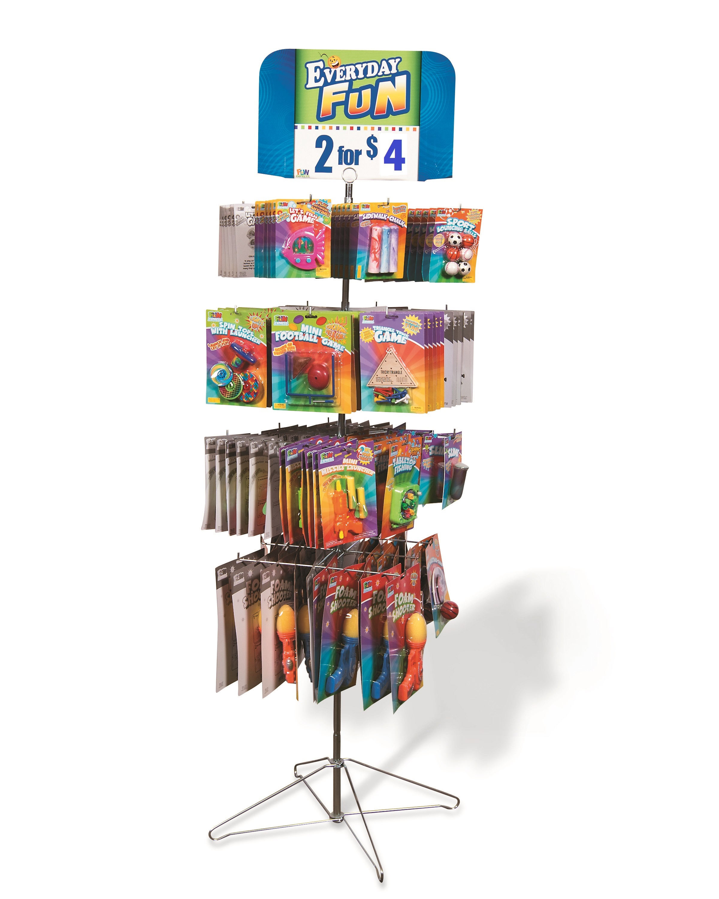 NEW Impulse 144pc Spinner Toy Rack, 60% + Margins by Fun Express LLC