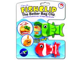 FishClip™ - the better bag clip. Magnetic back by Shrockie, LLC