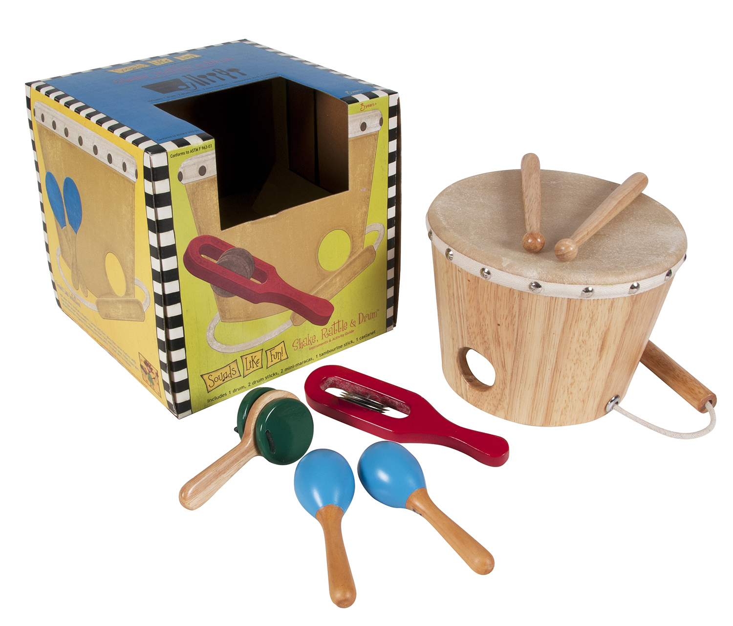 Sounds Like Fun Shake Rattle & Drum by Westco Educational Products