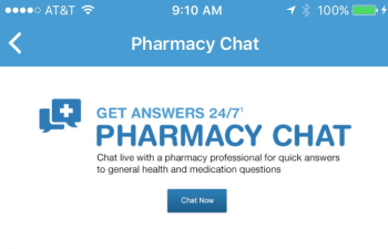 The Walgreens Mobile App enables pharmacists to have interactive chats with patients