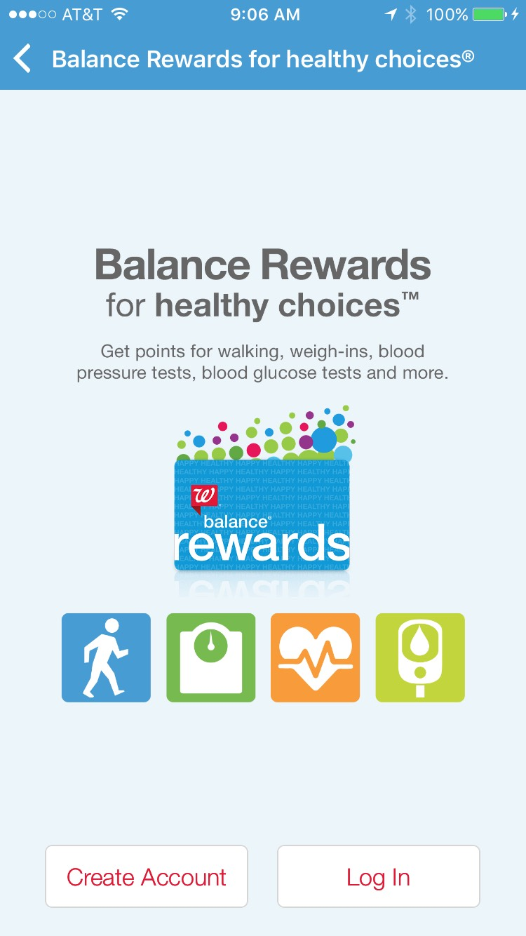 Balance Rewards for Healthy Choices offers rewards points for healthy activities like walking or quitting smoking