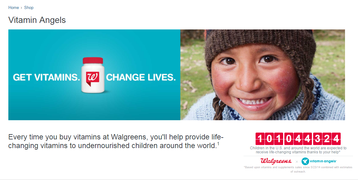 The Walgreens-Vitamin Angels partnership has helped bring vitamins to more than 100 million people in need