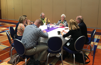 Attendees of ECRM's Home Health Care EPPS participated in Thought Interaction Pod roundtable discussions on a variety of topics