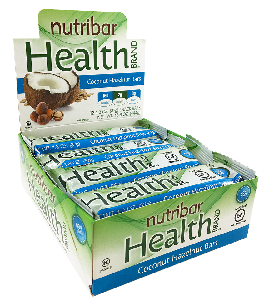 Nutribar Health Brand 12 x 1.3 oz. Snack Bar Display by Stella Pharmaceutical Canada Inc
