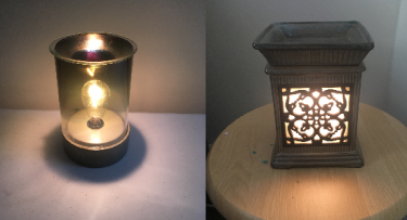 Two of the scented wax warmers I have in my apartment