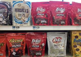Stand-up pouches are getting more space on retailers' candy shelves