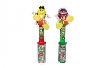 EPPS attendee CandyRific's new M&M Footbal Fans is an example of how toys and candy are combined for unique offerings