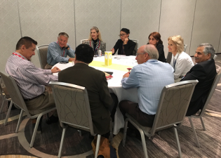 One of the five roundtables that were part of the TIP session at ECRM's  Contract Manufacturing/Packaging/Logistics for Beauty & Personal Care EPPS