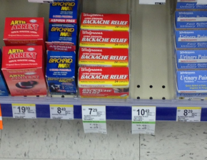 Shelf placement can have a dramatic impact on product sales (Image source: https://i.imgur.com/1l41Xjm.jpg)
