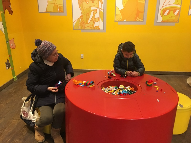 The Lego Store's play area