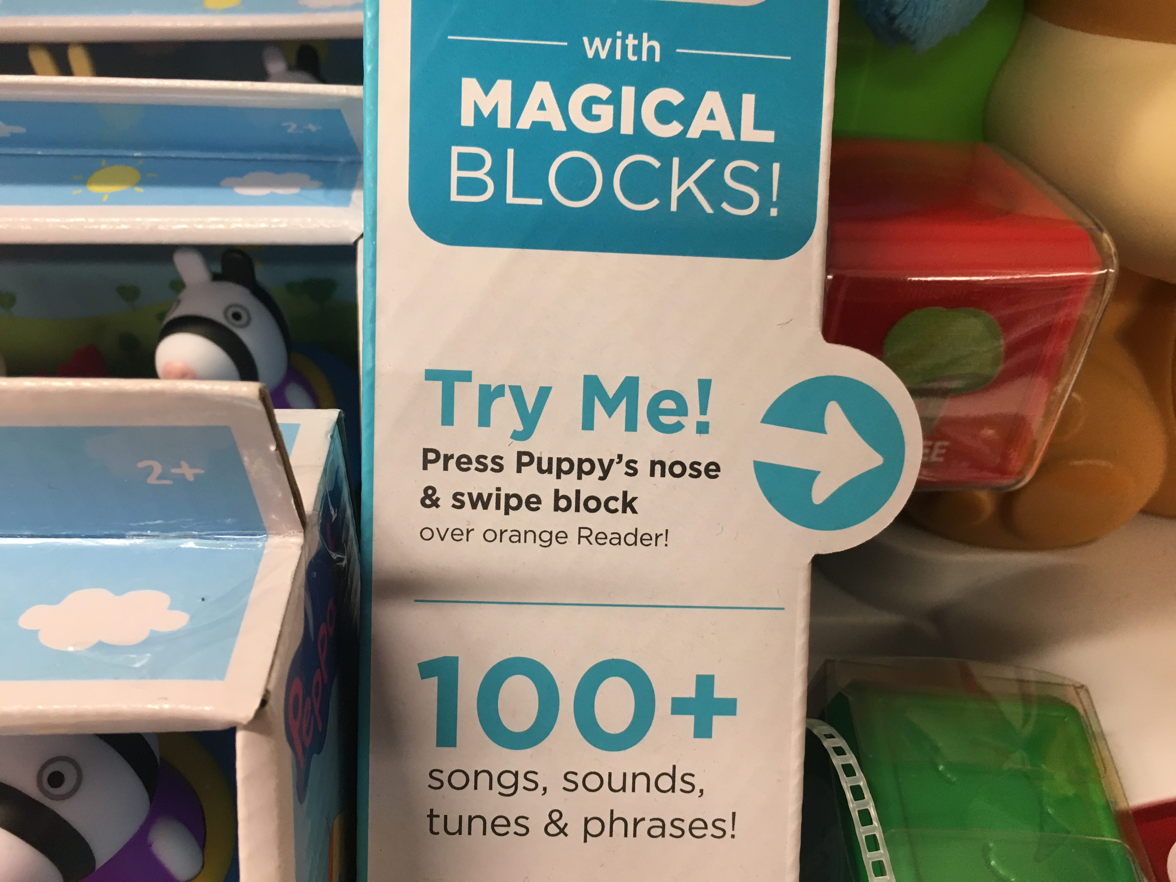 "Hundreds of toys at Kmart, Target and Toys R Us feature a ""Try Me"" label"
