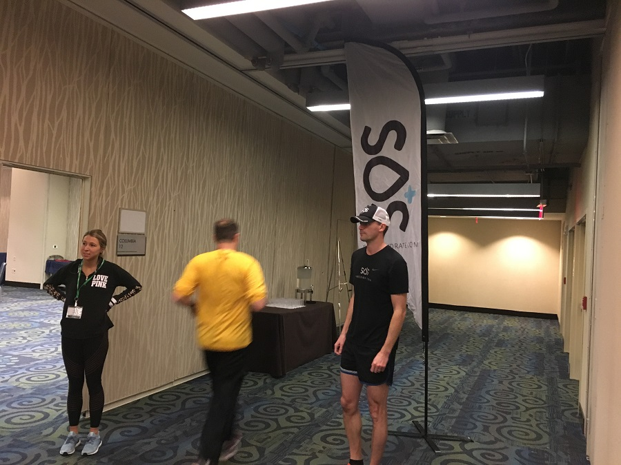 "The ""Run with an Olympian"" clinic with SOS Hydration"