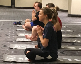 Buyer and seller attendees of ECRM's Vitamin, Weight Management & Sports Nutrition EPPS had tons of educational opportunities during this year's session, including a morning yoga class.