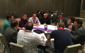 During the Thought Interaction Pod session, buyers and suppliers discussed a variety of topics during two 30-minute rounds on six table topics